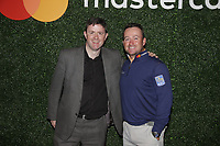 Mastercard Brand Ambassador Graeme McDowell (NIR) and Garry Lyons Mastercard Technology Innovator at the Media reception held by Mastercard at the end of Wednesday's Pracitce Day of the 2018 AT&amp;T Pebble Beach Pro-Am, held over 3 courses Pebble Beach, Spyglass Hill and Monterey, California, USA. 7th February 2018.<br /> Picture: Eoin Clarke | Golffile<br /> <br /> <br /> All photos usage must carry mandatory copyright credit (&copy; Golffile | Eoin Clarke)