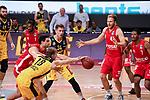 Jacob Hollatz (EWE Baskets Oldenburg) im Zweikampf, EWE Baskets Oldenburg vs. Brose Bamberg, easycredit Basketball-Bundesliga, Viertelfinal Rueckspiel, 20.06.2020. nph0001 Foto: Eibner/Memmler/Pool/nordphoto