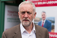 MAESTEG, Wales. 4th May 2016. On the eve of the Welsh Assembly election, Labour leader Jeremy Corbyn visits Maesteg, which will also hold a Westminster by-election for the Ogmore constituency tomorrow.