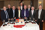 John Hoey, Joe O'Neill, Oliver Flanagan, John Gillispie, Michael Black and Brian Mccann Members of the Drogheda Fire service who retired pictured with Fire Chief Eamon Wolfe, Assistant Fire Chief Philip O'Brien and station officer Peter Leahy at a dinner in their honour held in the Glenside hotel. Photo: Colin Bell/pressphotos.iePhoto: Colin Bell/pressphotos.ie