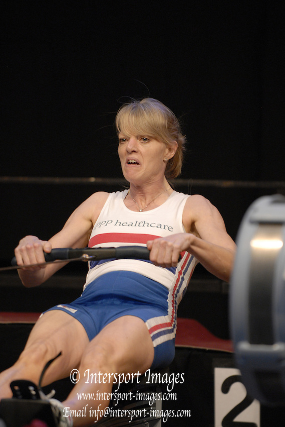 Dresden, GERMANY, UK Indoor Rowing Team  [40-49 years] Christine NUGENT-LEE, competing at the European Indoor Rowing Championships, Margon Arena,  15/12/2007 [Mandatory Credit Peter Spurrier/Intersport Images]