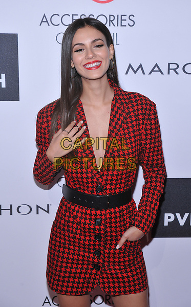 NEW YORK, NY - August 7: Victoria Justice attends the Accessories Council's 21st Annual celebration of the ACE awards at Cipriani 42nd Street on August 7, 2017 in New York City in New York City. <br /> CAP/MPI/JP<br /> &copy;JP/MPI/Capital Pictures