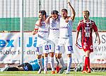 S&ouml;dert&auml;lje 2015-08-01 Fotboll Superettan Assyriska FF - &Ouml;stersunds FK :  <br /> Assyriskas Christoffer Eriksson firar sitt 3-1 m&aring;l med Alexander Nilsson och Mattias Genc under matchen mellan Assyriska FF och &Ouml;stersunds FK <br /> (Foto: Kenta J&ouml;nsson) Nyckelord:  Assyriska AFF S&ouml;dert&auml;lje Fotbollsarena Superettan &Ouml;stersund &Ouml;FK jubel gl&auml;dje lycka glad happy