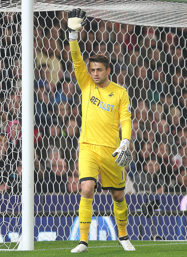 Swansea City's Lukasz Fabianski<br /> <br /> Photographer Mick Walker/CameraSport<br /> <br /> The Premier League - Stoke City v Swansea City - Monday 31st October 2016 -  bet365 Stadium - Stoke-on-Trent<br /> <br /> World Copyright &copy; 2016 CameraSport. All rights reserved. 43 Linden Ave. Countesthorpe. Leicester. England. LE8 5PG - Tel: +44 (0) 116 277 4147 - admin@camerasport.com - www.camerasport.com
