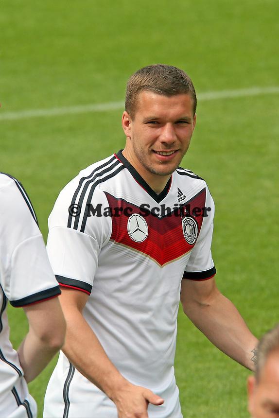 Lukas Podolski - Training der Deutschen Nationalmannschaft im Rahmen der WM-Vorbereitung in St. Martin