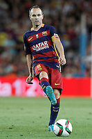 FC Barcelona's Andres Iniesta during Supercup of Spain 2nd match.August 17,2015. (ALTERPHOTOS/Acero)