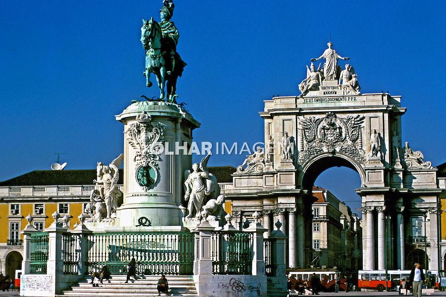 Praça do Comércio, Lisboa. Portugal. 1999. Foto de Juca Martins.