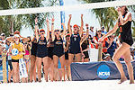 GULF SHORES, AL - MAY 07: The Pepperdine University team cheers on their teammates during the Division I Women's Beach Volleyball Championship held at Gulf Place on May 7, 2017 in Gulf Shores, Alabama. The University of Southern California defeated Pepperdine 3-2 to claim the national championship. (Photo by Stephen Nowland/NCAA Photos via Getty Images)