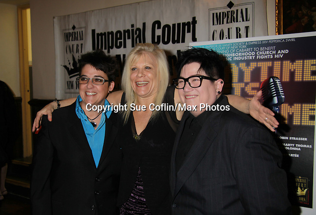 One Life To Live Ilene Kristen and Lea Delaria perform at ICNY (Imperial Court of New York): Daytime Meets Nighttime Cabaret benefitting LifeBeat: Music Fights HIV and Jan Hus Neighborhood Church, two organizations giving back to the community at November 4, 2011 at the Jan Hus Playhouse Theatre, New York City, New York. (Photo by Sue Coflin/Max Photos)