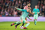 Sergio Busquets Burgos of FC Barcelona battles for the ball with Mikel Balenziaga Oruesagasti of Athletic Club during their Copa del Rey Round of 16 first leg match between Athletic Club and FC Barcelona at San Mames Stadium on 05 January 2017 in Bilbao, Spain. Photo by Victor Fraile / Power Sport Images