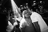Ostrow Wlkp 02.10.2010 Poland<br /> Polish team sumo players while having fun at the disco.<br /> Poles do not know much about sumo. Japan's national sport remains a mystery, except for the image of the very big and fat sumo wrestlers. However Polish sumo wrestlers have been, for many years, classified among world's leading sportsmen in this field. Since 1995 more and more followers join the sumo sections, fascinated with the art of fighting on the clay dohyo.<br /> Photo: Adam Lach / Napo Images<br /> <br /> Zawodnicy polskiej kadry podczas zabawy na dyskotece.<br /> Polacy niewiele wiedza o sumo. Narodowy sport Japonii to wciaz tajemnica. Kojarzy sie jedynie z wielkimi i grubymi mezczyznami. Jednak zawodnicy z Polski od lat naleza do swiatowej czolowki w tej dyscyplinie. Od 1995 roku w sekcjach sumo przybywa zawodnik&oacute;w zafascynowanych zmaganiami na glinianym dohyo.<br /> Fot: Adam Lach / Napo Images
