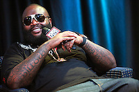 Rick Ross pictured at Power 99's iHeart Radio Performance Theater in Bala Cynwyd, Pa on July 18, 2012  © Star Shooter / MediaPunchInc