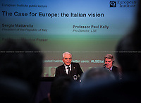 (From L to R) Sergio Mattarella &amp; Paul Kelly. <br />