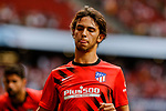 Joao Felix of Atletico de Madrid warms up before La Liga match between Atletico de Madrid and SD Eibar at Wanda Metropolitano Stadium in Madrid, Spain.September 01, 2019. (ALTERPHOTOS/A. Perez Meca)