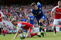 Per Mertesacker of Arsenal and Ross Barkley of Everton during Arsenal vs Everton, Premier League Football at the Emirates Stadium on 21st May 2017
