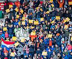 ROTTERDAM - supporters. toeschouwers, publiek , goal , doelpunt,   tijdens   de Pro League hockeywedstrijd heren, Nederland-Spanje (4-0) . COPYRIGHT KOEN SUYK
