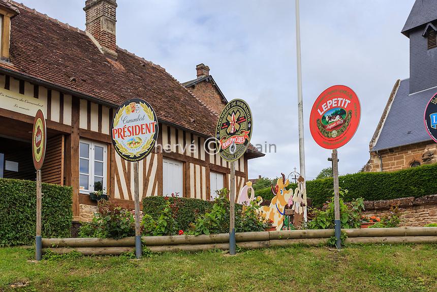 France, Orne (61), Camembert, musée du camembert // France, Orne, Camembert, camembert museum