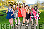 Katelyn O'Sullivan, Abigail Gallagher, Kata Vincze, Aoife Cronin, Leanne O'Connor, Chloe O'Sullivan-Myers and Emma O'Connor at the Beaufort Youth Club Ball in aid of the Donal Walsh foundation in the Dunloe Castle Hotel on Friday night