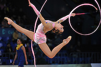 "TJASA SEME of Slovenia performs at 2011 World Cup Kiev, ""Deriugina Cup"" in Kiev, Ukraine on May 7, 2011."