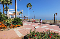 Paseo Maritimo, Promenade, Estepona, Malaga Province, Spain, October 2015, 201510151740<br />
