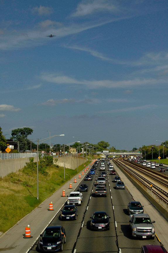 On the Kennedy Expressway Chicago