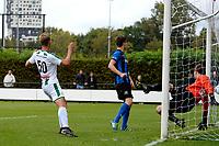 GRONINGEN - Voetbal, FC Groningen O23 - ACV, derde divisie, seizoen 2017-2018, 16-09-2017, /go50 scoort 2-0 langs ACV doelman Bert Woering