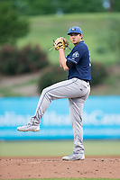 Asheville Tourists starting pitcher Riley Pint (32) in action against the Kannapolis Intimidators at Kannapolis Intimidators Stadium on May 5, 2017 in Kannapolis, North Carolina.  The Tourists defeated the Intimidators 5-1.  (Brian Westerholt/Four Seam Images)
