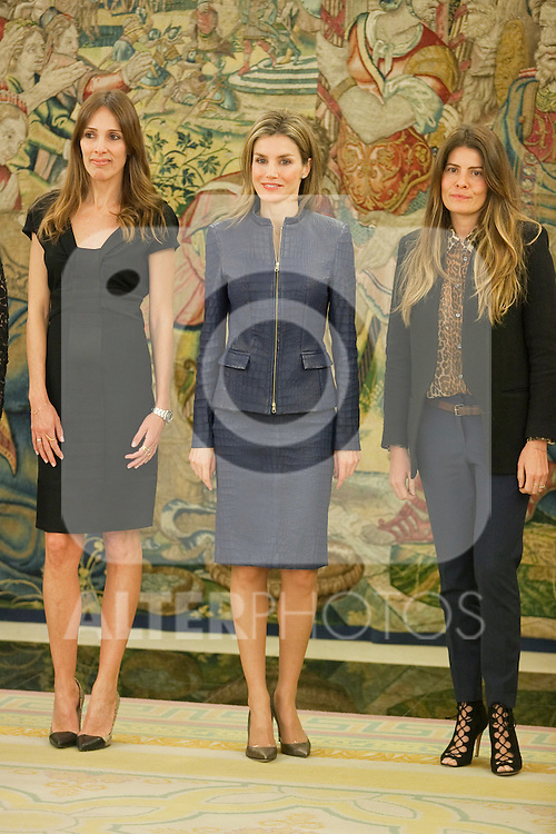 Princess Letizia of Spain attends an official audience with Vogue´s magazine representatives at Zarzuela Palace in Madrid, Spain. March 14, 2014. (ALTERPHOTOS/Victor Blanco)