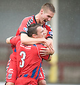 Brian Cameron celebrates after he scores Elgin's first.