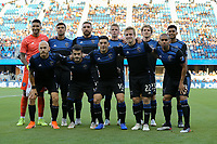 SAN JOSE, CA - JULY 06: San Jose Earthquakes Starting Eleven during a Major League Soccer (MLS) match between the San Jose Earthquakes and Real Salt Lake on July 06, 2019 at Avaya Stadium in San Jose, California.