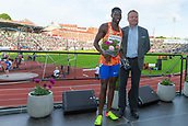 June 15th 2017, Bislett Stadion , Oslo, Norway; Diamond League Oslo Bislett Games;  Baboloki Thebe of Botswana at the award ceremony during the IAAF Diamond League held at the Bislett Stadium in Oslo, Norway