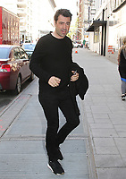 NEW YORK, NY - MAY 3: Ron Livingston spotted arriving at 'Good Day New York' to promote the movie 'Tully' in New York, New York on May 3, 2018.  Photo Credit: Rainmaker Photo/MediaPunch