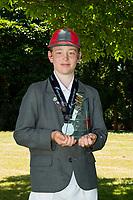 MVP Nick Gibb of Medbury School, after the National Primary School Cup Final at the Bert Sutcliffe Oval, Lincoln University, Christchurch, New Zealand. Wednesday 22 November 2017. Photo: John Davidson/www.bwmedia.co.nz