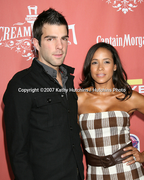 "Zachary Quinto & Dania Ramirez.Spike TV's ""Scream 2007"" Awards.The Greek Theater.Los Angeles,  CA.October 19, 2007.©2007 Kathy Hutchins / Hutchins Photo...               ."