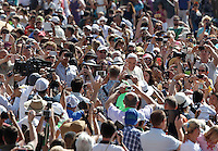 Papa Francesco tiene l'udienza generale del mercoledi' in Piazza San Pietro, Citta' del Vaticano, 10 giugno 2015.<br /> Pope Francis arrives for his weekly general audience in St. Peter's Square at the Vatican, 10 June 2015.<br /> UPDATE IMAGES PRESS/Isabella Bonotto<br /> <br /> STRICTLY ONLY FOR EDITORIAL USE
