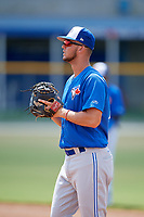 Toronto Blue Jays first baseman Jake Brodt (23) during a Florida Instructional League game against the Pittsburgh Pirates on September 20, 2018 at the Englebert Complex in Dunedin, Florida.  (Mike Janes/Four Seam Images)