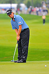 29 August 2009: Webb Simpson putts during the third round of The Barclays PGA Playoffs at Liberty National Golf Course in Jersey City, New Jersey.