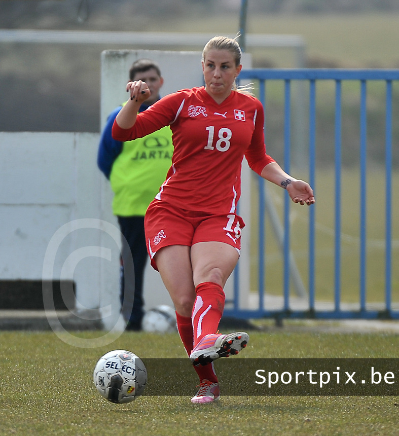 Switzerland U19 - Russia U19 : Audrey Wuichet.foto DAVID CATRY / Nikonpro.be