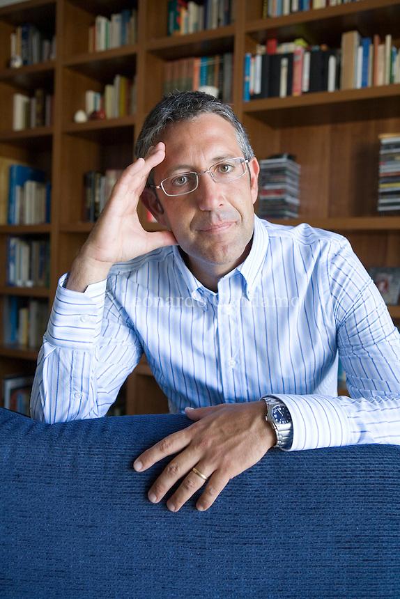 Nardò, Lecce, Italy, 2007. Livio Romano, Italian writer.