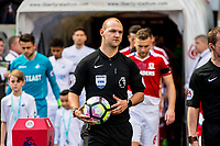 Sunday April 02 2017 <br /> Pictured:  Referee Robert Madley<br /> Re: Premier League match between Swansea City and Middlesbrough at The Liberty Stadium, Swansea, Wales, UK. SUnday 02 April 2017