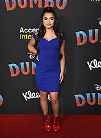 11 March 2019 - Hollywood, California - Tati McQuay. &quot;Dumbo&quot; Los Angeles Premiere held at Ray Dolby Ballroom. Photo <br /> CAP/ADM/BT<br /> &copy;BT/ADM/Capital Pictures