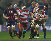 Gloucester Rugby Jeremy Thrush in action during todays game<br /> <br /> Photographer Rachel Holborn/CameraSport<br /> <br /> European Rugby Challenge Cup Final - Gloucester Rugby v Stade Francais Paris - Friday 12th May 2017 - BT Murrayfield, Edinburgh<br /> <br /> World Copyright &copy; 2017 CameraSport. All rights reserved. 43 Linden Ave. Countesthorpe. Leicester. England. LE8 5PG - Tel: +44 (0) 116 277 4147 - admin@camerasport.com - www.camerasport.com