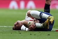 Giovani Lo Celso of Tottenham Hotspur lies injured during Tottenham Hotspur vs Wolverhampton Wanderers, Premier League Football at Tottenham Hotspur Stadium on 1st March 2020