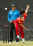 Ruan Xiang of China in action during their ICC 2016 Women's World Cup Asia Qualifier match between China and Hong Kong on 10 October 2016 at the Hong Kong Cricket Club in Hong Kong, China. Photo by Victor Fraile / Power Sport Images