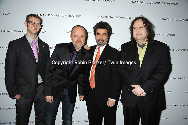 "group from ""Paradise Lost 3: Purgatory"" with Lars Ulrich attends The National Board of Review Film Awards Gala on January 10, 2012 at Cipriani 42nd Street in New York City."