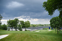 A wide shot of the green on 10 as the bad weather begins to roll in during the round 1 of the KPMG Women's PGA Championship, Hazeltine National, Chaska, Minnesota, USA. 6/20/2019.<br /> Picture: Golffile | Ken Murray<br /> <br /> <br /> All photo usage must carry mandatory copyright credit (© Golffile | Ken Murray)