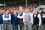 Enjoying  Ladies Day at the Listowel Harvest Racing Festival on Friday were l-r Darren Barrett, Paul Stack, Evan Murphy, Gavin Dooley and Gerard Leane. all from Causeway Comprehensive, school.
