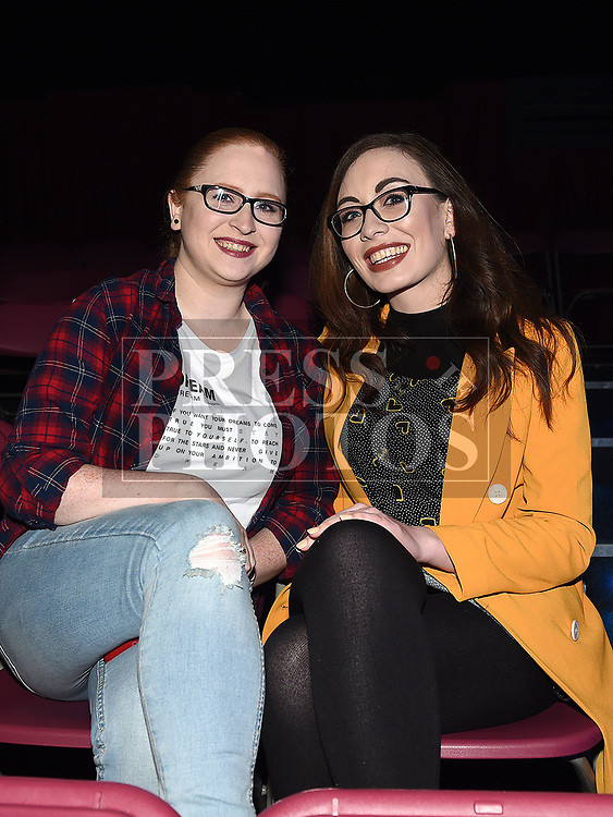 Sarah Crake and Lisa Dowling at The Prodigy Sons fundraiser for Ella hewitt in The Crescent Concert Hall. Photo:Colin Bell/pressphotos.ie