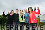 Mary J. Murphy, Denise O'Connor, Siobhan Lenihan, Mary Theresa Barry and Liz Lane at the Kingdom Come 10 miler and 5k race at Castleisland on Sunday