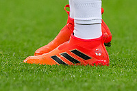 Mesut Ozil (Arsenal) of Germany personalised Adidas football boots during the International Friendly match between England and Germany at Wembley Stadium, London, England on 10 November 2017. Photo by Andy Rowland.